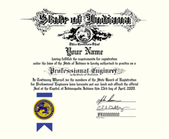 7000-Old-Style Professional Engineer Certificate